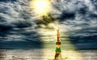 A Handstand on Avalon Beach