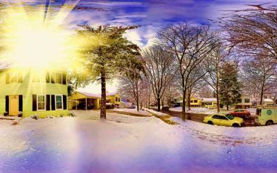 Wintery House Panorama