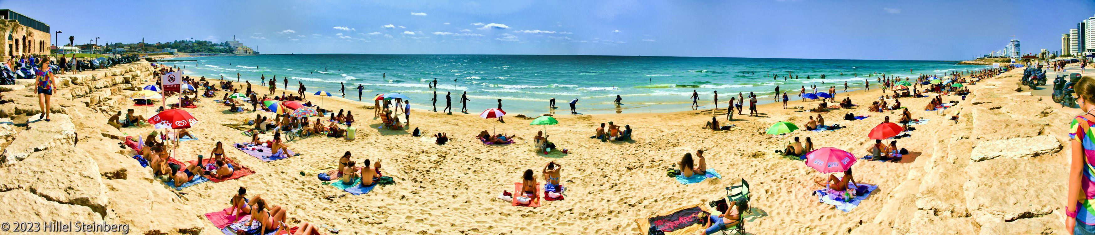 Panorama of Tel-Aviv's Beach, Summer 2011