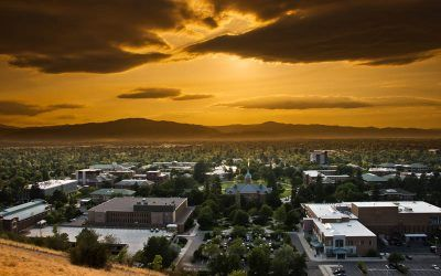 Sunset Downtown Missoula