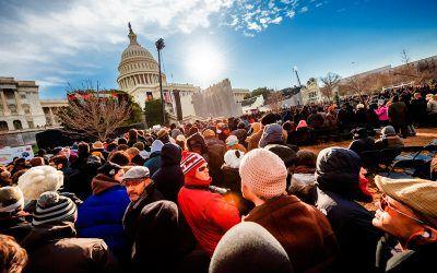 Inauguration Crowd