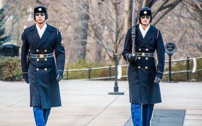 Changing of the Honor Guards