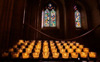 National Cathedral Memorial Candles